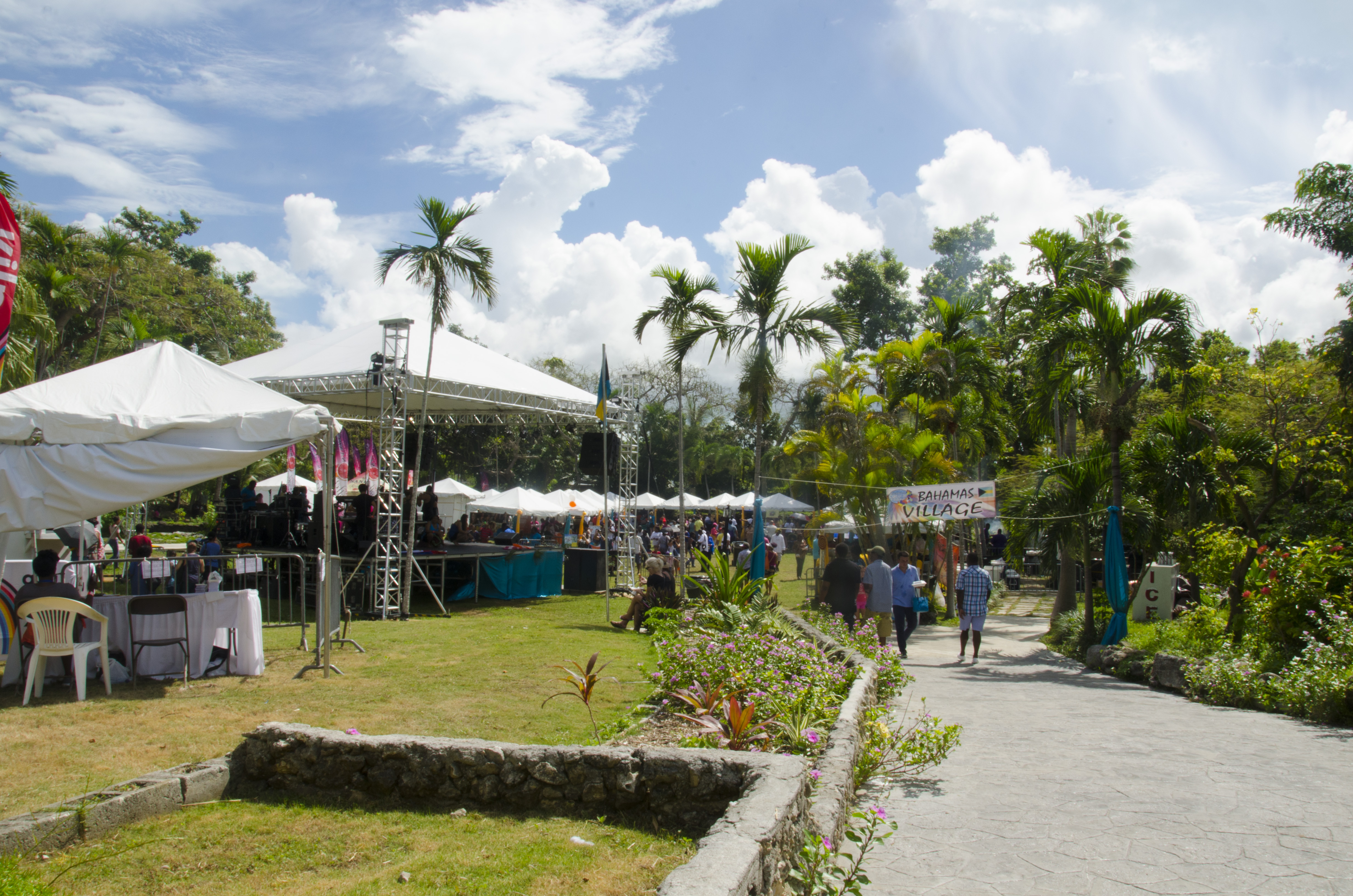 Entrance to Bahamian Village at International Cultural Festival