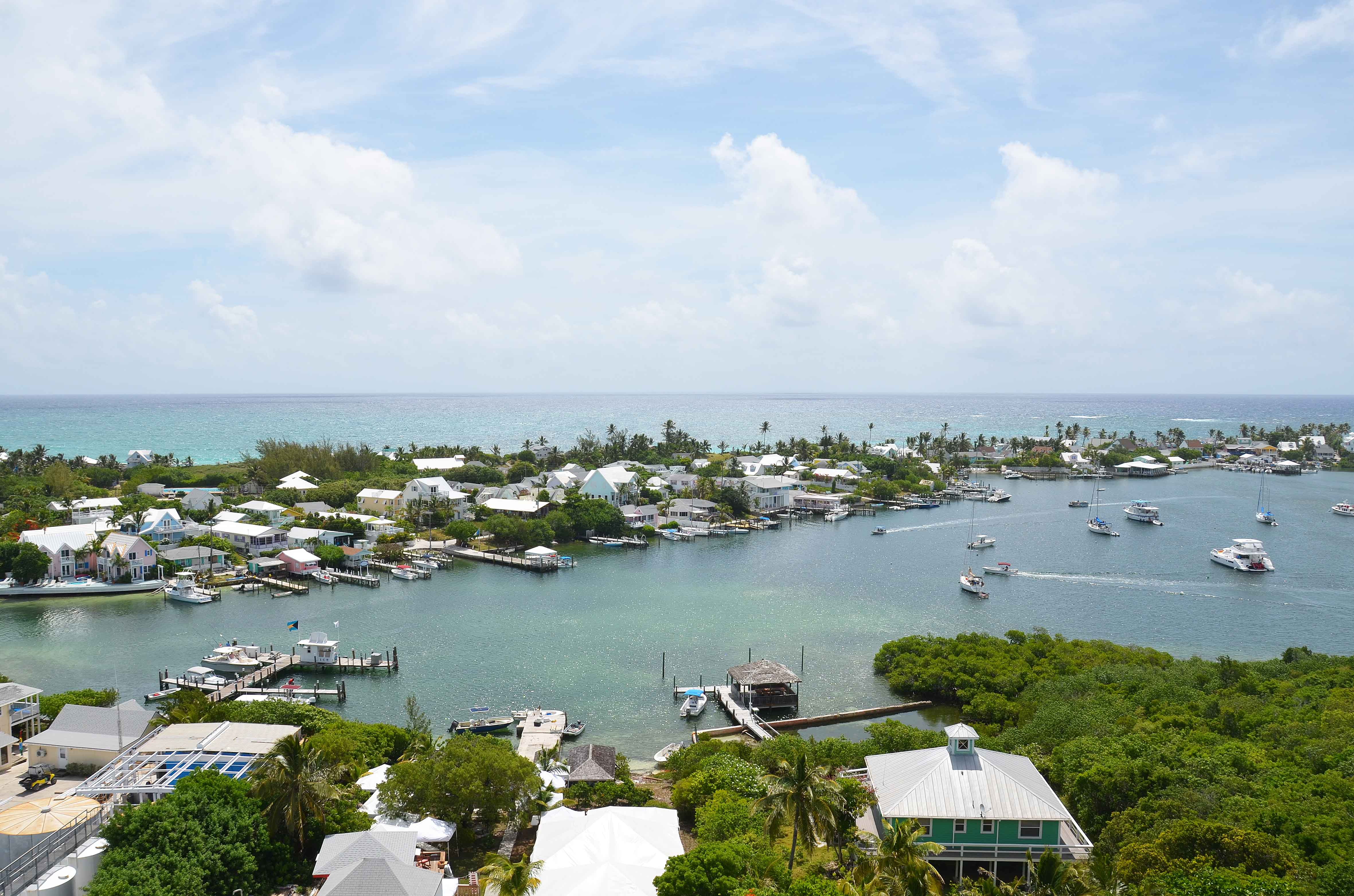 Aerial view, Elbow Cay