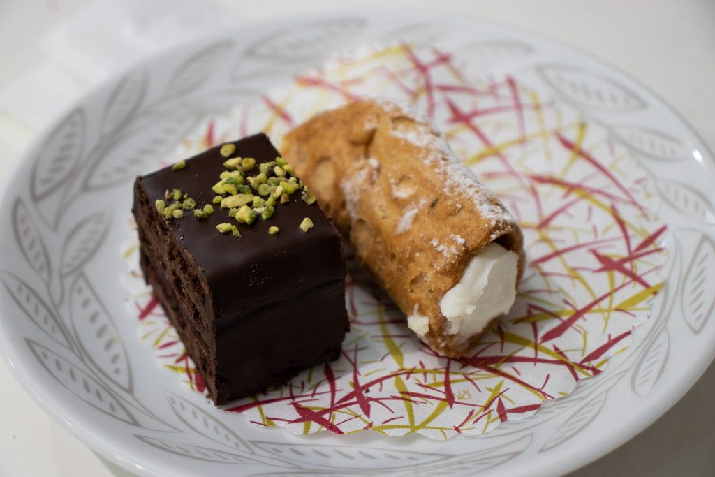 cannolo and chocolate cake - among the best things I ate!